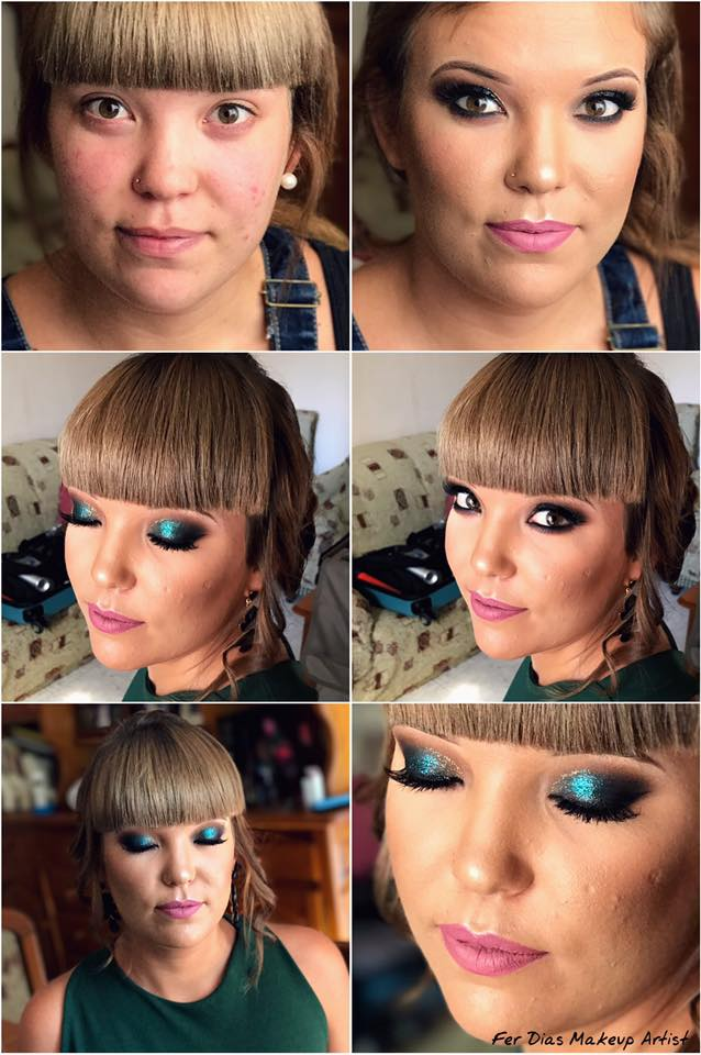 maquillaje y peinado novia