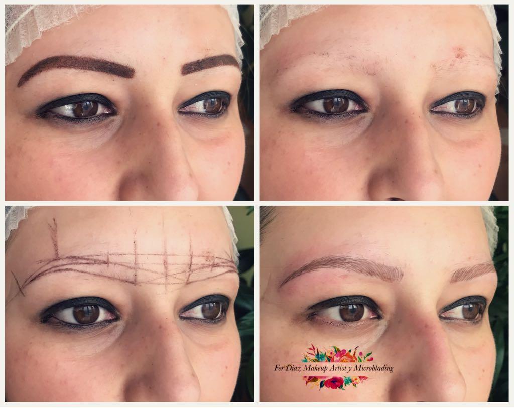 Microblading mujer sin vello en las cejas
